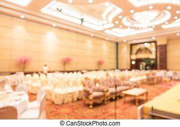 Abstract blur wedding grand ballroom hall