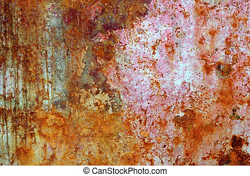 rusty grunge aged steel iron paint oxidized texture...