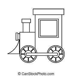 Isolated train toy design - Train toy icon. Childhood play...