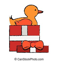 Isolated duck toy design - Duck toy icon. Childhood play...