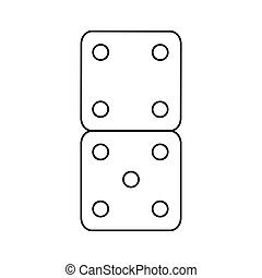 Isolated dice toy design