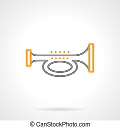 Signal horn simple line vector icon - Abstract symbol of...