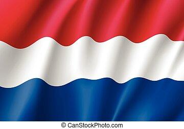 Waving flag of Netherland