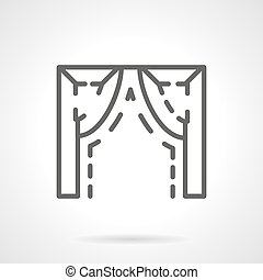 Ogee arch element simple line vector icon