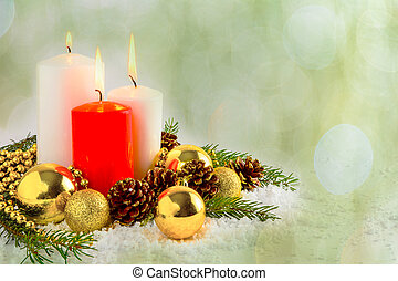 Christmas red candles arrangement