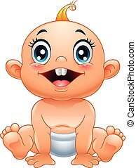 Cartoon cute baby