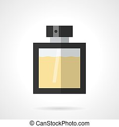 Perfumery products flat color vector icon - Elegance glass...