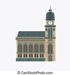 Europe Cathedral Illustration
