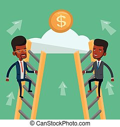 Two businessman competing for the money. - Two...
