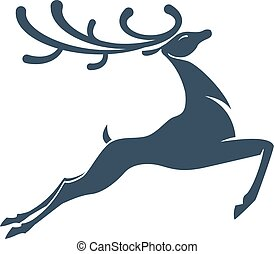 deer silhouette Christmas or new year