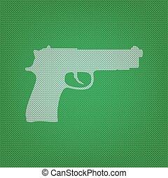 Géneros de punto, Ilustración, arma de fuego, señal, verde,...