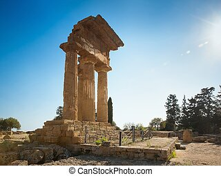 Temple of Dioscuri (Castor and Pollux). UNESCO World...