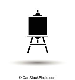 Easel icon. White background with shadow design. Vector...
