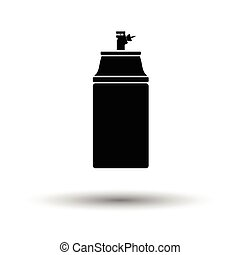 Paint spray icon. White background with shadow design....