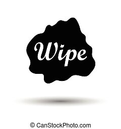 Wipe cloth icon. White background with shadow design. Vector...