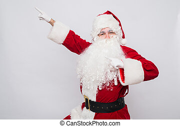 Santa Claus superhero. Christmas holiday concept