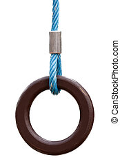 Gymnastic rings - Muscular exercising sport equipment...