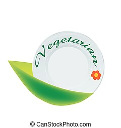 Vegetarian plate icon