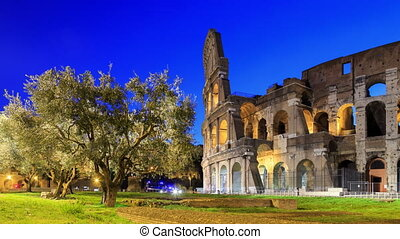 Colosseum, distortions corrected, Rome, Italy. Camera...