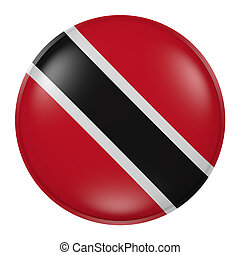 Trinidad and Tobago button - 3d rendering of Trinidad and...