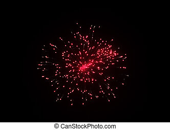 Fireworks display in the sky