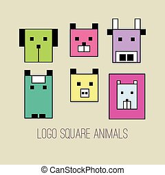 Geometric collection of animals