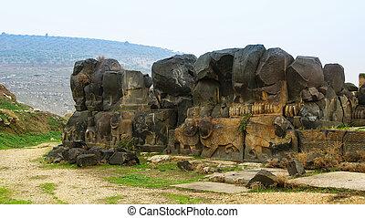 Ruins of Ain Dara temple near Aleppo Syria - Ruins of Ain...