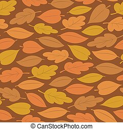 Seamless pattern of colorful autumn leaves - Seamless...
