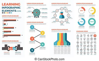 Learning concept infographic