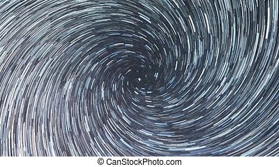 Stars draw a line in the sky. Spiral. Continuous lines....