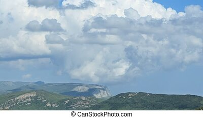 South Crimea. The mountains. Time Lapse