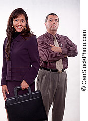 Attractive multi racial business team - Attractive multi...