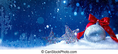 art blue snow christmas background