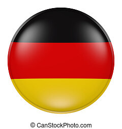 German  button - 3d rendering of  German flag on a button