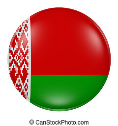 Belarus button - 3d rendering of  Belarus flag on a button