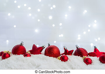 Christmas scene with snow