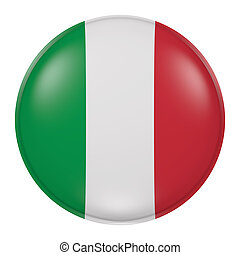 Italy button - 3d rendering of Italy flag on a button