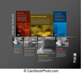 Infographic Timeline Template with big photos - Vector...