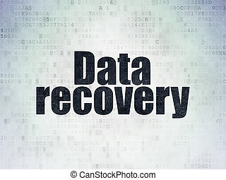 Data concept: Data Recovery on Digital Data Paper background...