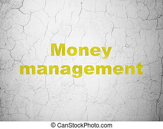 Currency concept: Money Management on wall background