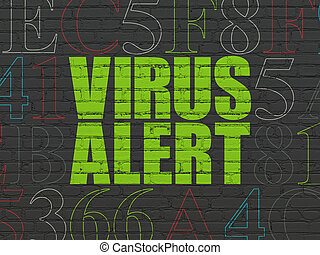 Security concept: Virus Alert on wall background - Security...