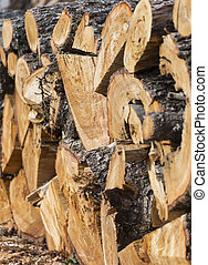 Firewood. - Natural wooden background ,firewood, Firewood...