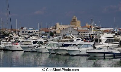 Marina in Saintes-Maries-de-la-Mer, southern France