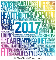 2017 word cloud collage