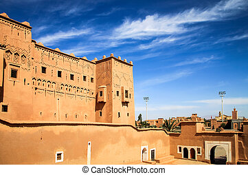 Kasbah in ouarzazate - Magnificent kasbah – old traditional...