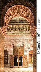Telouet Kasbah interior - Interior of the old Telouet kasbah...