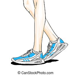 Jogging/running shoes, sneakers