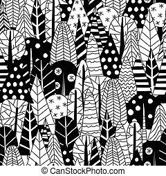 modèle, hiver, forêt