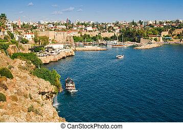 Beautiful view of Antalia harbor, Turkey
