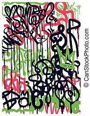 Background Graffiti Stickers - Modern Youth background with...